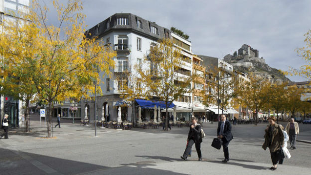 Place Du Midi in Sion.