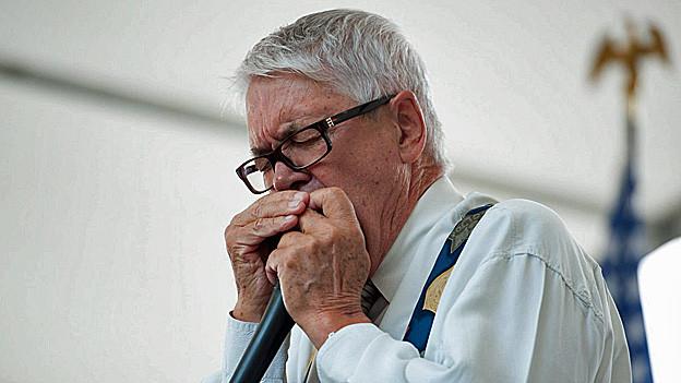 Claude Nobs am 4. Juli 2011 an einer Veranstaltung in der US-Botschaft in Bern.