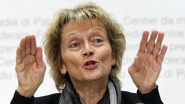 Ein Jahr voller Herausforderungen für Bundespräsidentin Eveline Widmer-Schlumpf.