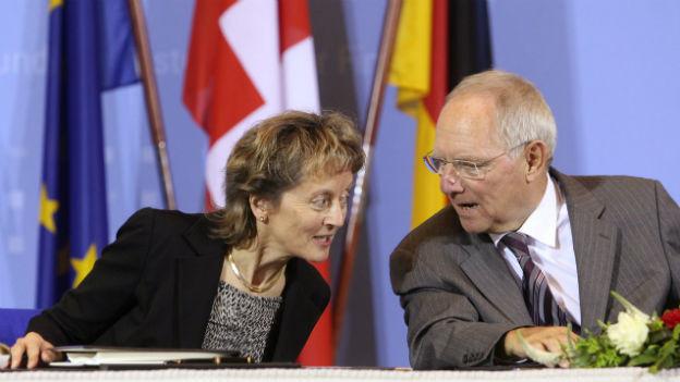 Da war die Welt noch in Ordnung: Widmer-Schlumpf und Schäuble unterzeichneten das Steuerabkommen