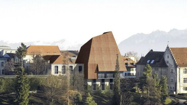 "Siegerprojekts ""Rosebud"" zur Neugestaltung des Parlaments in Lausanne."