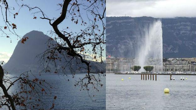 Genfersee und Monte San Salvatore