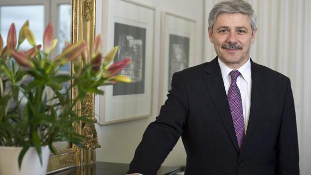 Regierungsrat Carlo Conti, Vorsteher des Gesundheitsdepartementes Basel-Stadt