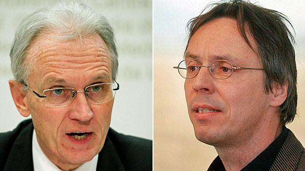 Hans-Ulrich Bigler, Direktor Schweizer Gewerbeverband und Raimund Rodewald, Geschäftsleiter Stiftung Landschaftsschutz
