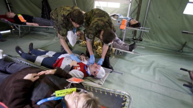 Archivaufnahme: Übung Teamwork 08 der Schweizer Armee.