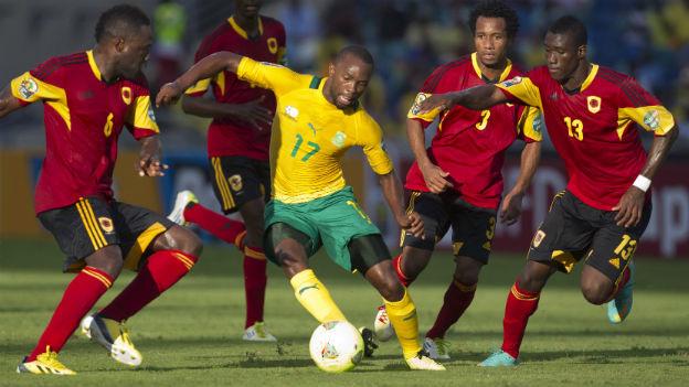 Südafrika konnte sich im zweiten Gruppenspiel gegen Angola mit 2:0 durchsetzen.