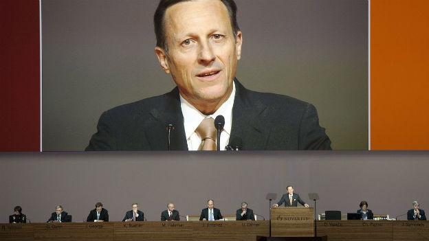 Daniel Vasella an der Novartis-GV im Februar 2012