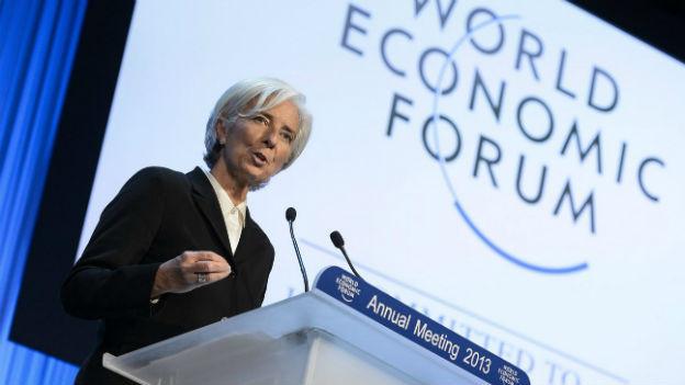 Christine Lagarde bei ihrem Auftritt in Davos