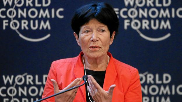 Helga Nowotny am Weltwirtschaftforum in Davos.