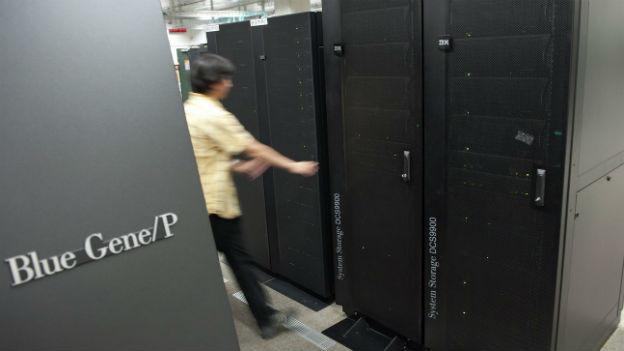 Sehen unscheinbar aus, haben es aber in sich: Supercomputer an der EPFL.