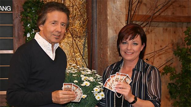Ernst Marti und Monika Fasnacht im «Samschtig-Jass».