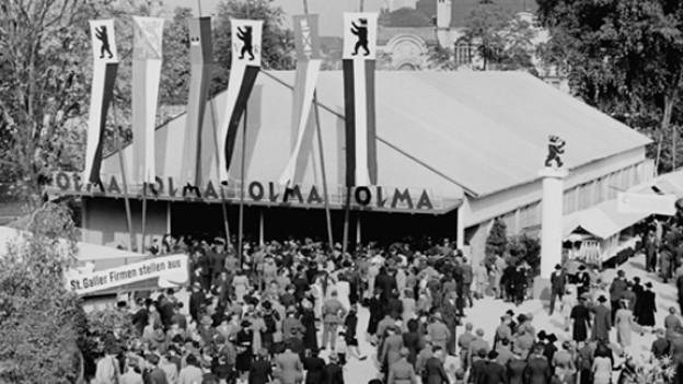 Haupteingang der 1. OLMA 1943 an der Museumstrasse.