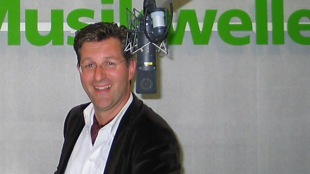 Samuel Zünd im Studio von DRS Musikwelle.