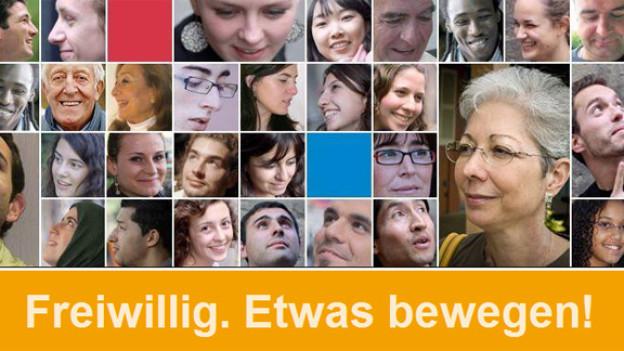 Bild ab der offiziellen Webseite zum Europäischen Jahr der Freiwilligentätigkeit.