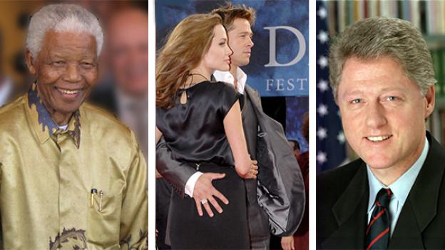 Waren alle schon im Grandhotel Steigenberger Belvedere Davos zu Gast: Nelson Mandela, Angelina Jolie und Brad Pitt, Bill Clinton.