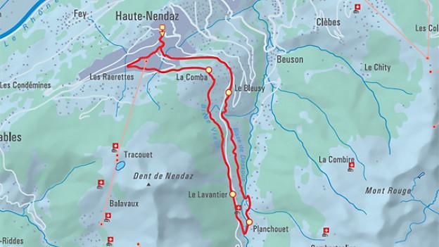 Die Wanderung entlang der historischen Wasserwege im Wallis.