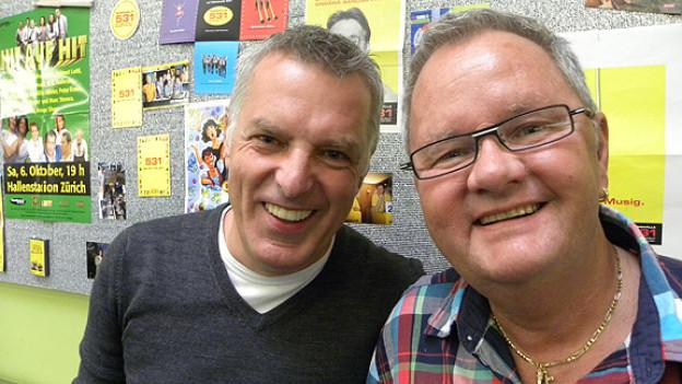 Musikredaktor Thomas Wild und Moderator Jörg Stoller berichten über die Anfänge von DRS Musikwelle.