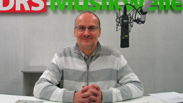 Corsin Tuor im Studio von DRS Musikwelle.
