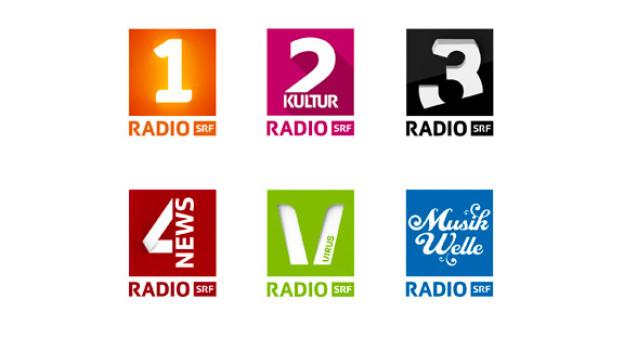 Neue Logos SRF Radioprogramme.