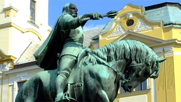 Denkmal für den ungarischen Heerführer Janos Hunyadi.