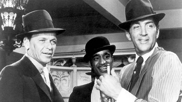 Dean Martin (rechts) zusammen mit Sammy Davis jr. und Frank Sinatra 1964 im Film «Robin and the Seven Hoods».