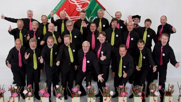 Eine aufgestellte Truppe: Der Männerchor Buchberg ist eine der Formationen, die in der Sendung «Zoogä-n-am Boogä» auftreten wird.