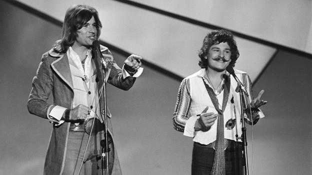 «Waterloo & Robinson» traten für Österreich1976 beim Eurovision Song Contest an. Mi ihrem «My little World» erreichten sie dabei den 5. Platz.