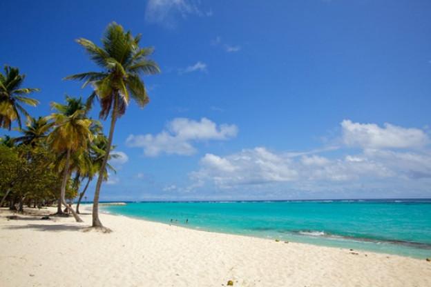 Traumhafte, einsame Sandstrände: anzutreffen auf Guadeloupe