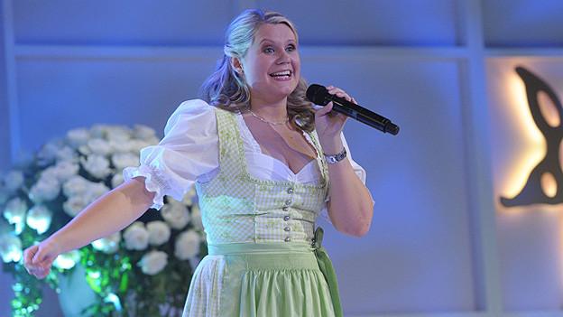 Manuela Fellner 2011 bei einem Auftritt am Prix Walo.