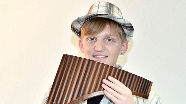 Panflötenspieler Jonas Gross.