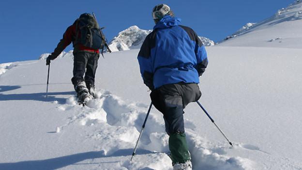 Schneeschuhwandern: Die freie Natur in einer traumhaften Winterlandschaft geniessen.