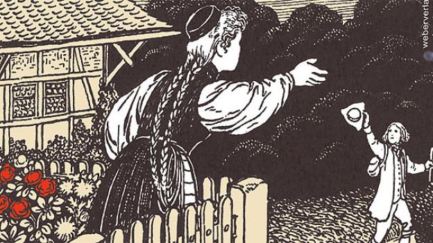 Ausschnitt aus dem Hörbuch-Cover «Vo Lliebi u Trüwwi» von Heinz Häsler.