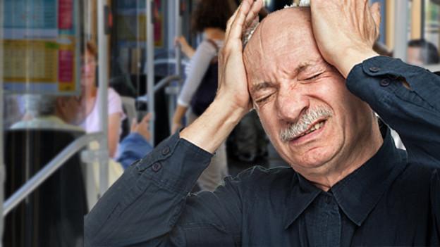 Wer nicht mehr gut hört, fühlt sich durch Lärm zusätzlich beeinträchtigt; vor allem auch in engen Räumen oder im öffentlichen Verkehr.