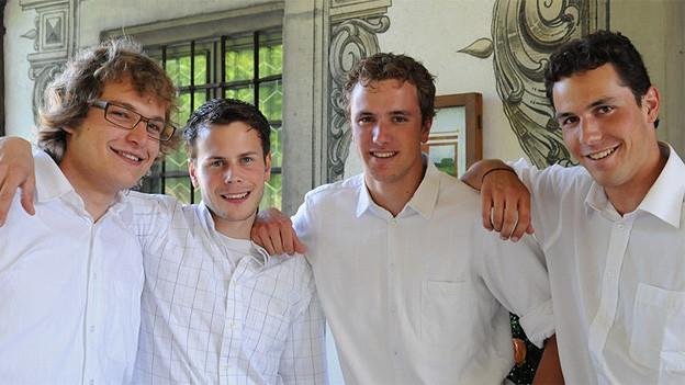 Severin Barmettler, Mathias Landtwing, Markus Bircher und Andreas Bircher (v.l.n.r.) bilden das Quartett «Quantensprung».