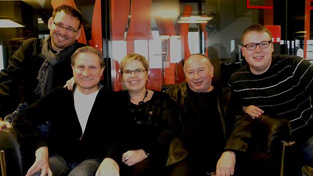 Guido Rüegge, Beat Tschümperlin, Christine Gertschen, Kurt Brogli und Sämi Studer (v.l.n.r.)