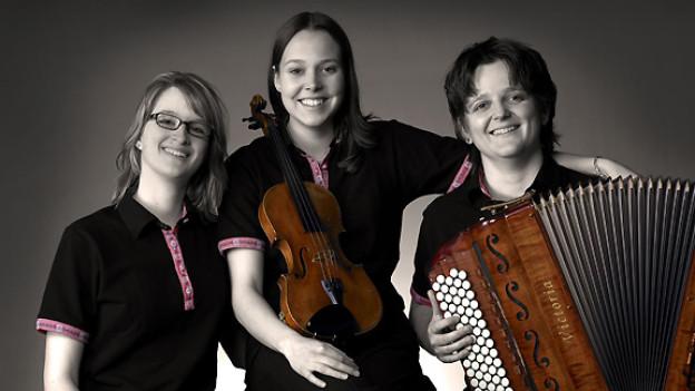 Marion Suter, Maria Gehrig und Andrea Ulrich (v.l.n.r.) als Trio InterFolk.
