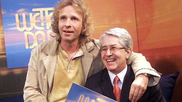 Im März 2001 moderierte Frank Elstner zusammen mit Thomas Gottschalk die Jubiläumssendung zum 20-jährigen Bestehen von «Wetten, dass...?».