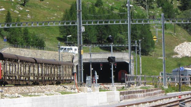 Südwestliches Portal des Furka-Baistunnels in Oberwald.