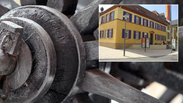 Die Postkutsche, die im Rousseau-Jahr 1962 von Frankfurt nach Neuenstadt am Bielersee unterwegs war, wurde auch in Meckesheim mit Pauken und Trompeten emfpangen.