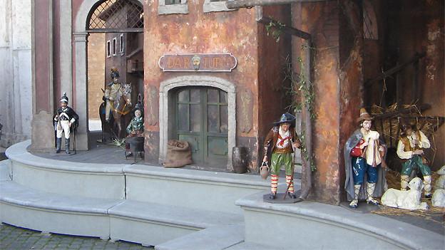 «Presepio» auf dem Piazza die Spagna in Rom. Eine Vielfalt verschiedenster Krippendarstellungen ist dieser Tage überall in Italien zu sehen.