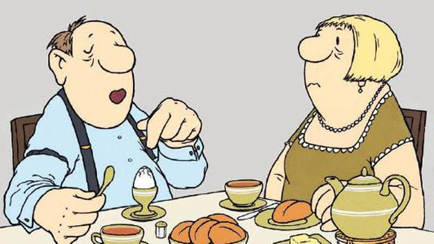 Der  Ausspruch «Berta! Das Ei ist hart» wurde zur deutschen Redewendung.