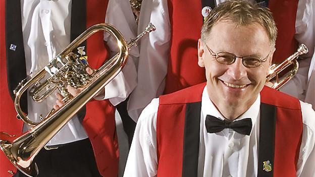 Rolf Gmür, Dirigent der Gasterländer Blasmusikanten.