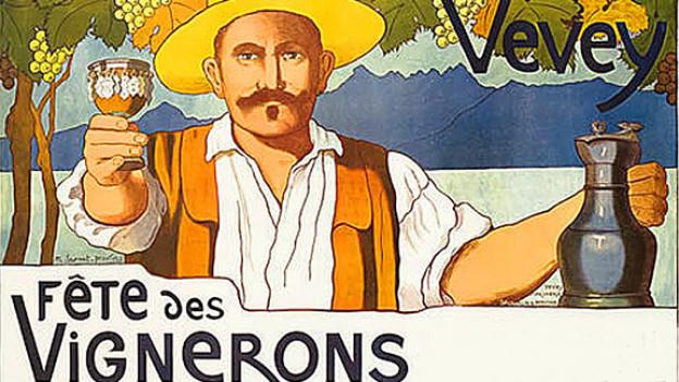 Werbeplakat zum «Fêtes des Vignerons» von 1905.