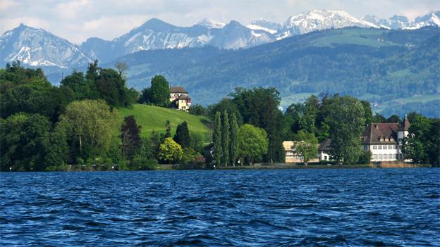 Halbinsel Au mitten im Zürichsee