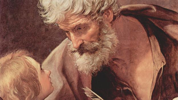 Matthäus auf einem Gemälde von Reni Guido im Vatikan.