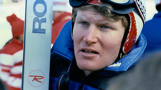 Porträt vom Schweizer Skirennfahrer Peter Müller, undatierte Aufnahme.