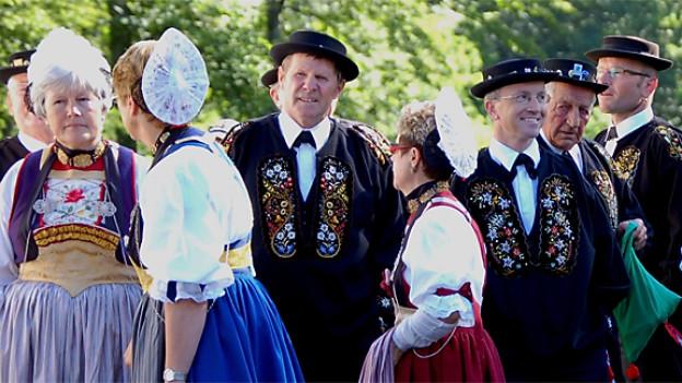 Traditionelle Trachten prägten auch das Bild am letzten Eidgenössischen Trachtenfest 2010 in Schwyz.