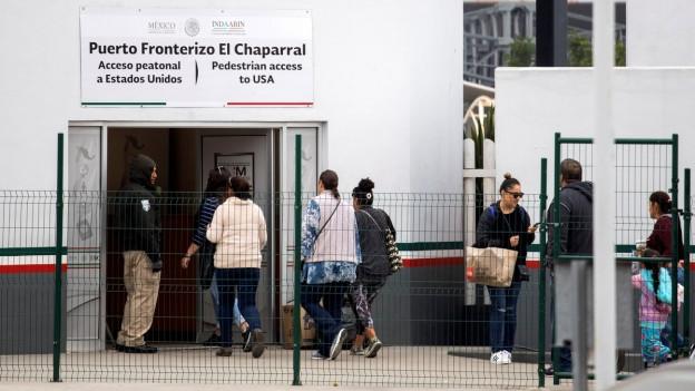 Der Grenzübergang zwischen den USA und Mexiko in Tijuana.