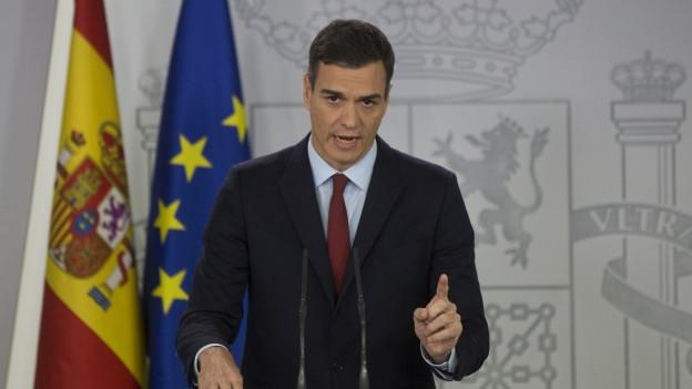 Der Spanische Ministerpräsident Pedro Sanchez steht innenpolitisch unter Druck.