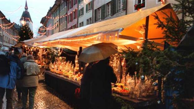 Im Jahr 2011 hat es am Weihnachtsmarkt in Bremgarten nur geregnet
